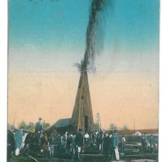 4269 - CAMPINA, Romania, Prahova, Eruptia sondei - old postcard - used - 1922, Circulata, Printata