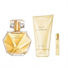 Set Femei - Eve Confidence - Parfum, Lotiune corp, Miniparfum - Avon - NOU - Set parfum