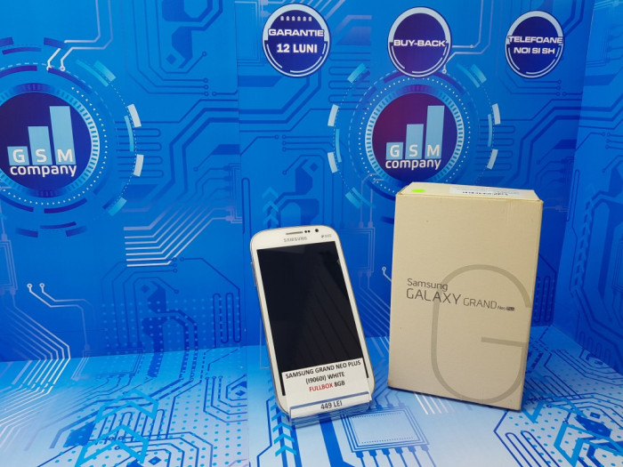 Samsung Galaxy Grand Neo Plus Duos I9060I White FACTURA+GARANTIE