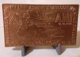 Medalia Compania FRANCO ROMANA PRIMA LINIE TRANSCONTINENTALA medalie aviatie