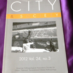 City and Society 2012 american anthropological society antropologie (f0875 - Carte Sociologie