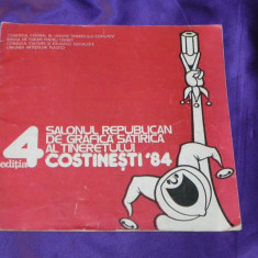 Salonul republican de grafica satirica costinesti 1984 catalog caricaturi (f0880 - Reviste benzi desenate
