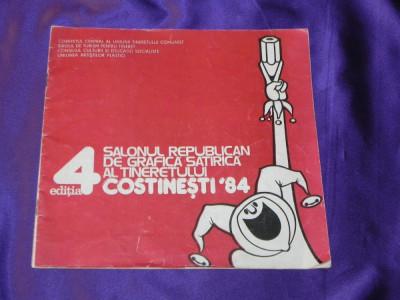 Salonul republican de grafica satirica costinesti 1984 catalog caricaturi (f0880 foto