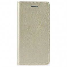 Husa Samsung Galaxy Grand Prime Book SMART Gold - Husa Telefon, Piele Ecologica, Cu clapeta