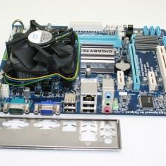 Kit placa baza Gigabyte GA-G41MT-S2+cpu E7500-2x2.93Ghz+!8Gb DDR3+cooler P121 - Placa de Baza Gigabyte, Pentru INTEL, LGA775, Contine procesor, MicroATX