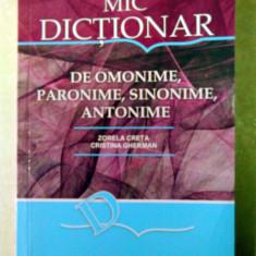 Mic dicționar de omonime, paronime, sinonime, antonime - Dictionar sinonime all