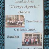 LICEUL DE ARTA GEORGE APOSTU BACAU 2008 - CURS FESTIV + BANCHET (2 DVD - uri!!!), Romana