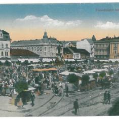 4290 - ARAD, Romania, Market - old postcard - used - 1918 - Carte Postala Banat 1904-1918, Circulata, Printata