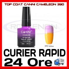 TOP COAT CANNI CAMELEON GALBEN 390 7.3ML - LUCIU FINAL - MANICHIURA GEL UV