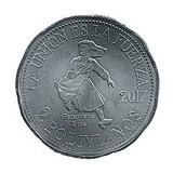 Bolivia 2 Bolivianos 2017 - (Genoveva Ríos) 29 mm KM-New UNC !!!, America Centrala si de Sud