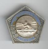 PENTAGONALE CANOE Loc 3 CAMPION Republica SOCIALISTA ROMANIA 1967 Insigna SPORT