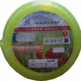 Furtun de gradina silicon 100% Harlem®, 3/4,19 mm,rola 25 metri,Vernil