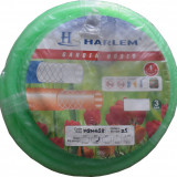 Furtun de gradina silicon 100% Harlem®, 3/4,19 mm,rola 25 metri, Verde