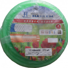 Furtun de gradina silicon 100% Harlem®, 3/4, 19 mm, rola 25 metri, Verde - Furtun gradina