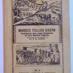ORATIONES PRO REGE DEJOTARO ET PRO QUINTO LIGARIO de MARCUS TULLIUS CICERO , 1940