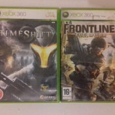 LOT 2 Jocuri Timeshift + Frontlines - XBOX 360 [Second hand] - Jocuri Xbox 360, Shooting, 18+, Single player