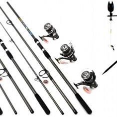 Kit Complet Pescuit Crap 3 Lansete 3 Mulinete Rod Pod Full Echip 3.3m,3.6m 3.9m
