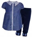 Rochita bleumarin cu pantalonasi, 1-2 ani, 12-18 luni