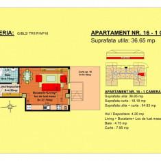 Garsoniera - Garsoniera de vanzare, 37 mp, An constructie: 2018, Parter