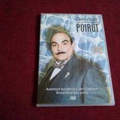 DVD AGATHA CHRISTIE POIROT - AVENTURA BUCATARULUI DIN CLAPHAM / SINUCIDERE SAU - Film serial, Politist, Romana