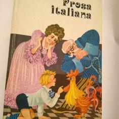 Carte pentru copii, in limba italiana, Prosa Italiana, Ed Didadtica si Ped 1977 - Carte in italiana