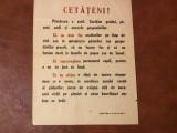 Afis / Fluturas perioada comunista Sfaturi cetatenesti privind ocrotirea paduri