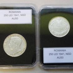 Romania 1941 - 250 lei NSD, aUNC, in capsula - Moneda Romania