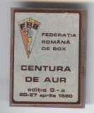 BOX - CENTURA  de AUR editia a 9a - Insigna SPORT -  1980 - RARA
