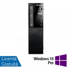 Calculator Refurbished LENOVO ThinkCentre E73, SFF, Intel Core i5-4430s, 4 GB DDR3, 500GB SATA, DVD-ROM + Windows 10 Pro - Monitor LCD