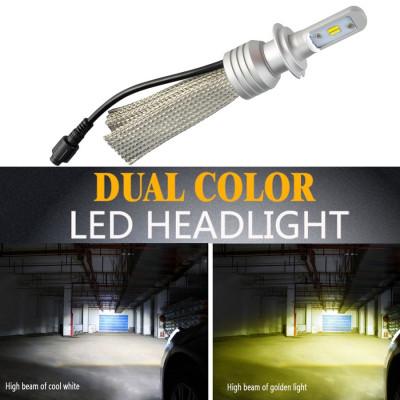 Bec LED L11 culoare duala HB4 - 9006 AL-220118-17 foto