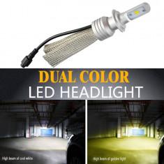 Bec LED L11 culoare duala H4 - DOUA FAZE AL-220118-19