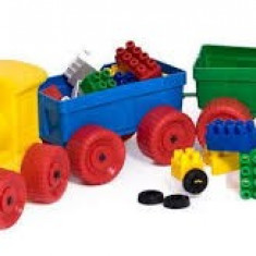 Trenulet cu lego Huby Toys