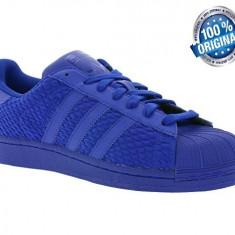 ADIDASI ORIGINALI 100% Adidas Superstar TRIPLE blue nr 44;44 2/3 - Adidasi barbati, Marime: 42 2/3, Culoare: Din imagine
