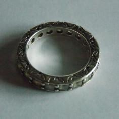 Inel din  argint Pandora-190894-square princess cut -marime 54