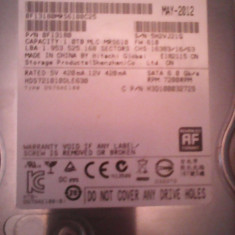 Hard-disk PC 1 TB Hitachi 1614 zile utilizare 100% health P162, 1-1.9 TB, Rotatii: 7200, SATA 3, 64 MB