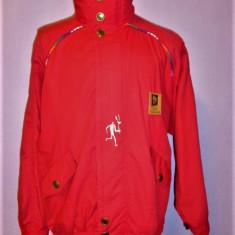 Geaca vintage Jocurile olimpice Lillehammer 1994 - Geaca barbati, Marime: M/L, Culoare: Rosu