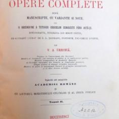 MIRON COSTIN , OPERE COMPLETE DUPA MANUSCRIPTE CU VARIANTE SI NOTE de V.A.URECHIA ,VOLUMUL 2 , 1888