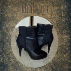 Botine H&M - Botine dama H&M, Culoare: Negru, Marime: 39.5
