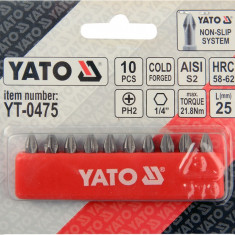 Trusa 10 biti PH2 1/4 25 mm YATO