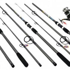 Kit 3 LANSETE FINO CARP 3, 9 m 3 TRONSOANE CU 3 MIFINE FAST 6000 - Set pescuit