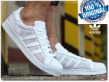 ADIDASI ORIGINALI 100% Adidas Superstar  TRIPLE  white nr 43 1/3