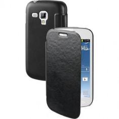 Husa Flip Cover Muvit MUEAF0003 Agenda Folio Negru pentru Samsung Galaxy Trend - Husa Telefon