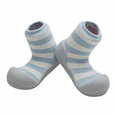 Attipas Natural Herb, bleu, bumbac organic - Pantofi copii Attipas, Marime: 19, 20, 21.5, 22.5, Unisex, Textil