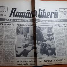 "ziarul romania libera 23 februarie 1990-arti. ""cauze si efecte "" octavian paler"