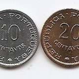 Sao Tome & Principe Set 2 - 10, 20 Centavos 1971 - KM-15a, 16.2 UNC !!!, Africa