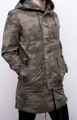 Geaca Army lunga - geaca barbati geaca slim fit geaca camuflaj cod 172 foto