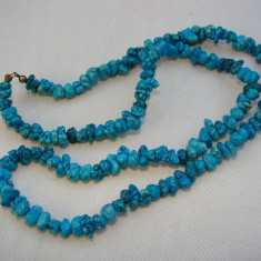 Colier din pietre semipretioase - turcoaz - Set bijuterii handmade si fashion