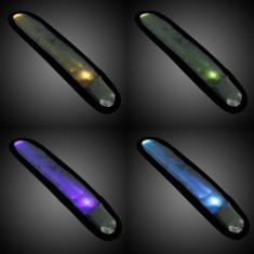 Banda reflectorizanta cu LED, 3 moduri iluminare, inchidere clema - Lanterna