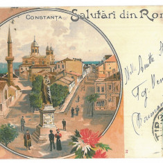 1142 - CONSTANTA, Romania, Litho - old postcard - used - 1900 - TCV - Carte Postala Dobrogea pana la 1904, Circulata, Printata