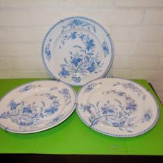 Trei  FARFURII RARE de colectie GUSTAVSBERG GOTEBORG , anii 1920, diam = 24,5 cm